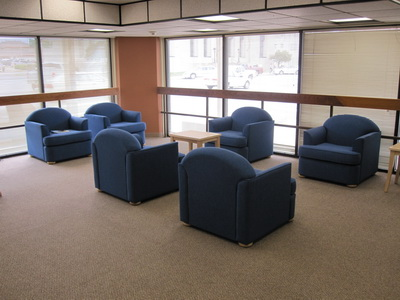 Ada Library Lounge After, New Chairs